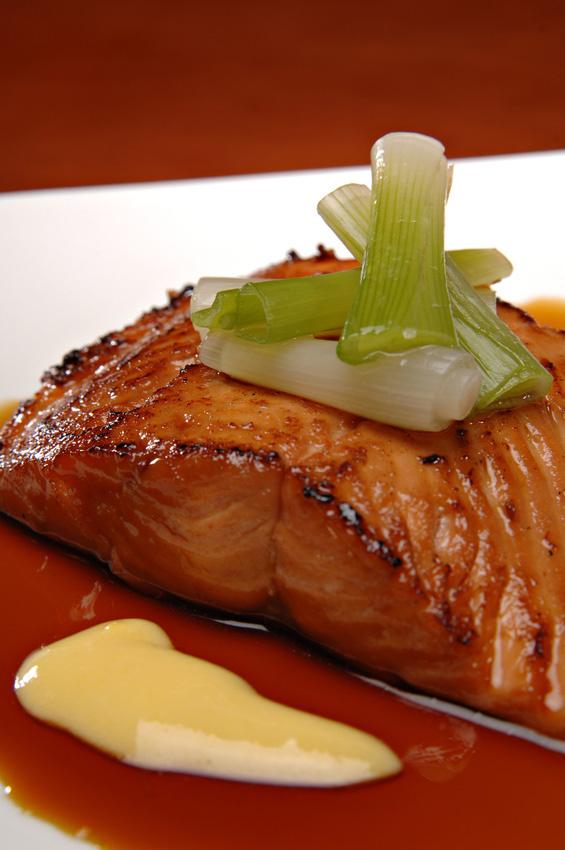 Maple Glazed Baked Salmon Recipe