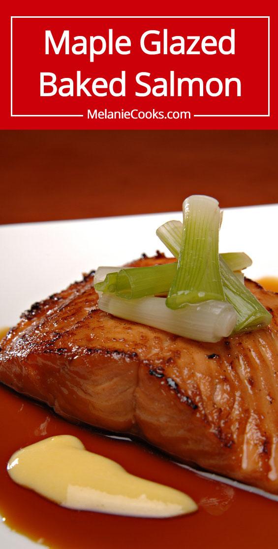 Maple Glazed Baked Salmon Recipe | MelanieCooks.com