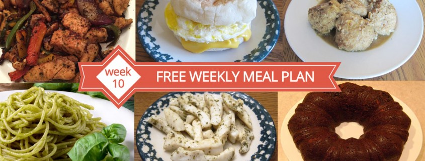 FREE Meal Plan Week 10