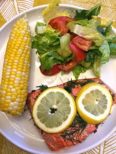 Oven Baked Lemon Dill Salmon