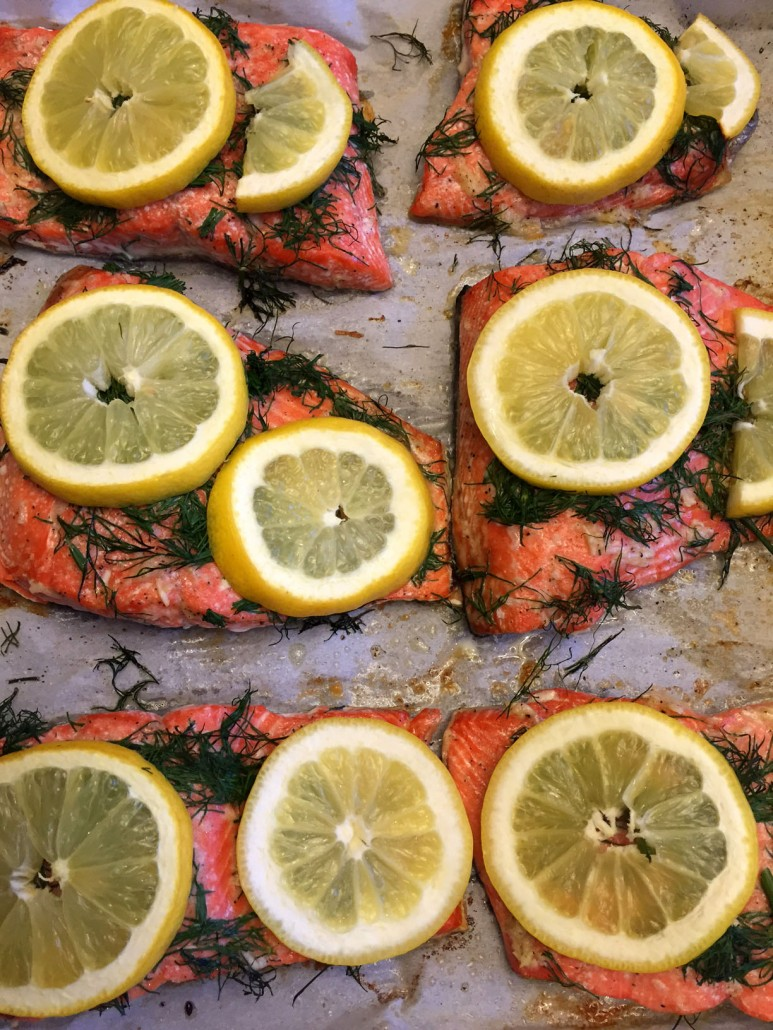 Baked Lemon Dill Salmon Recipe