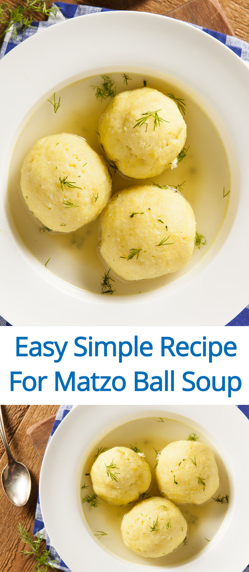 Easy Matzo Ball Soup Recipe - perfect for beginners!