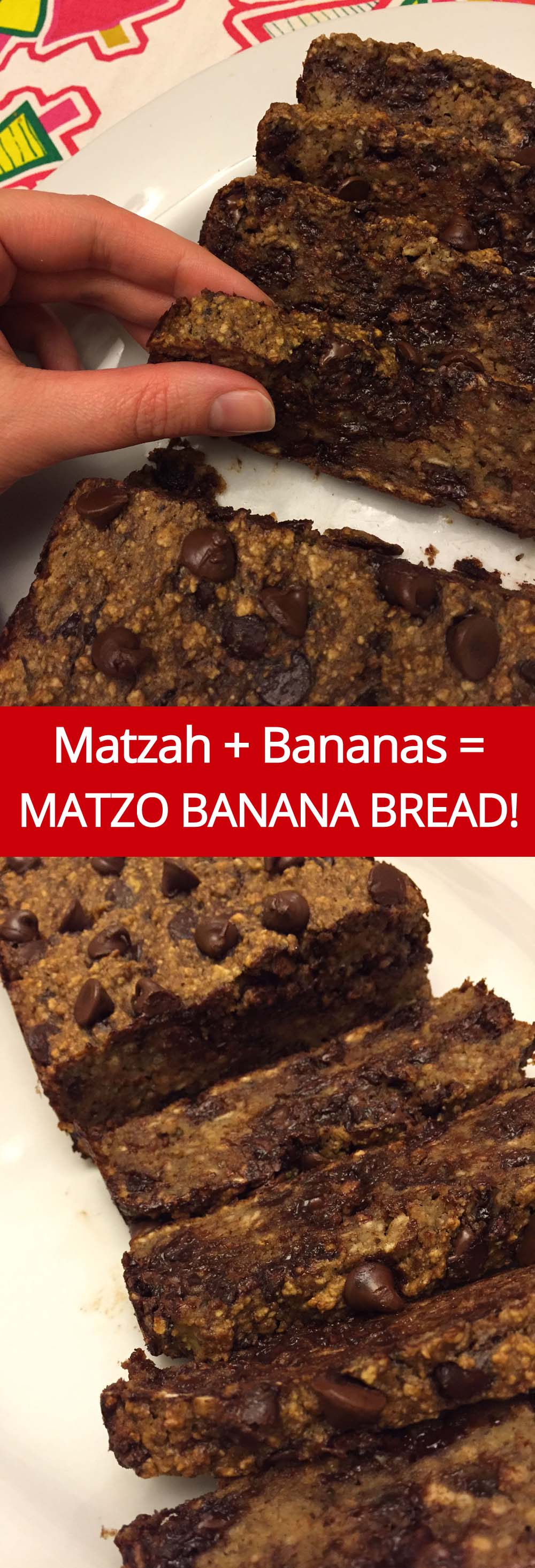 Matzo Meal Banana Bread Recipe from MelanieCooks.com - Perfect For Passover! #passover