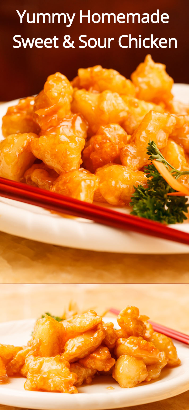 Homemade Sweet & Sour Chicken Recipe - make this instead of ordering a Chinese takeout! #chinese #chicken #sweetandsour