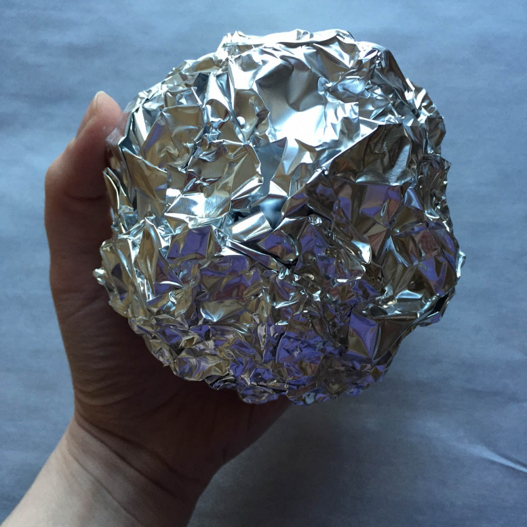 Tortilla Bowl Mold Made With Tin Foil