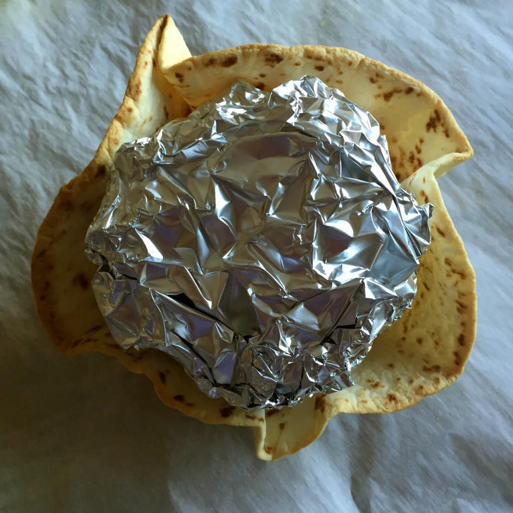 Tortilla Shell Taco Salad Bowl - Just Baked!