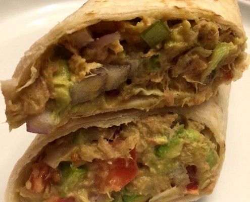 Low Carb Tuna Avocado Wrap