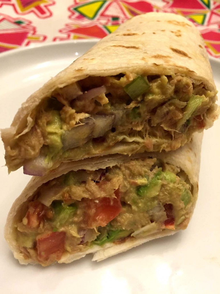 Tuna Avocado Salad Wrap Recipe - Healthy, High-Protein, Low-Carb, Delicious!