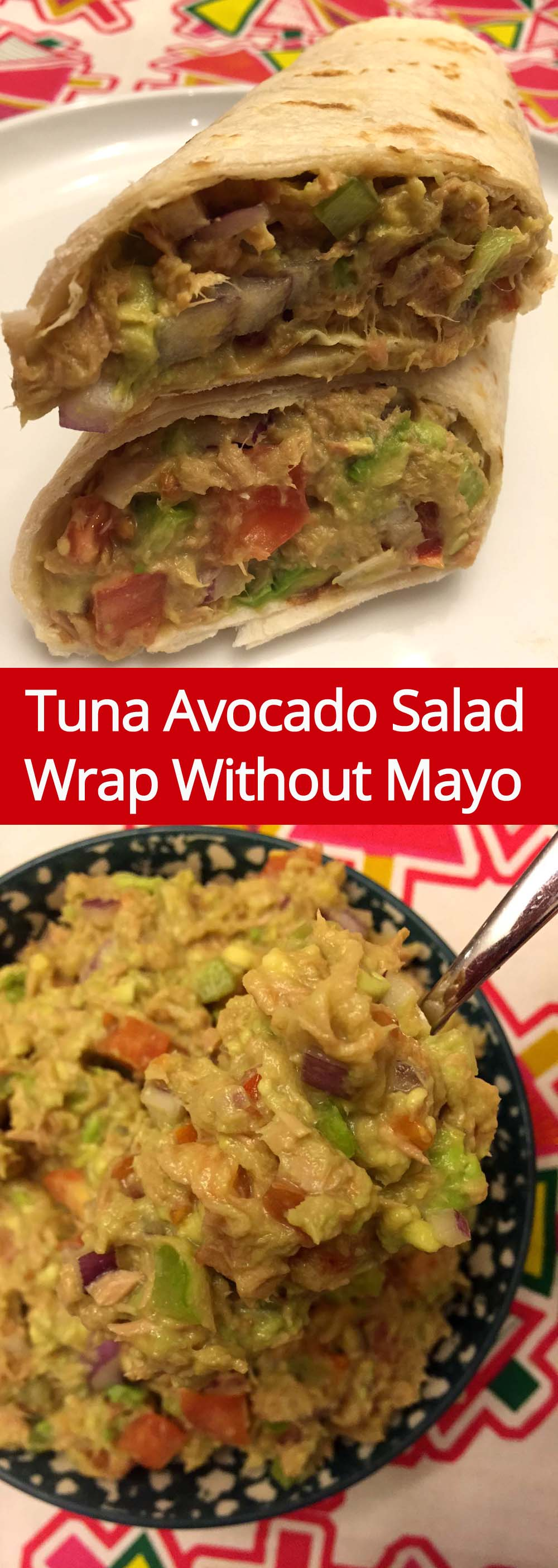 These tuna avocado salad wraps are so easy to make, healthy and delicious! I love to have the tuna avocado wrap for lunch!