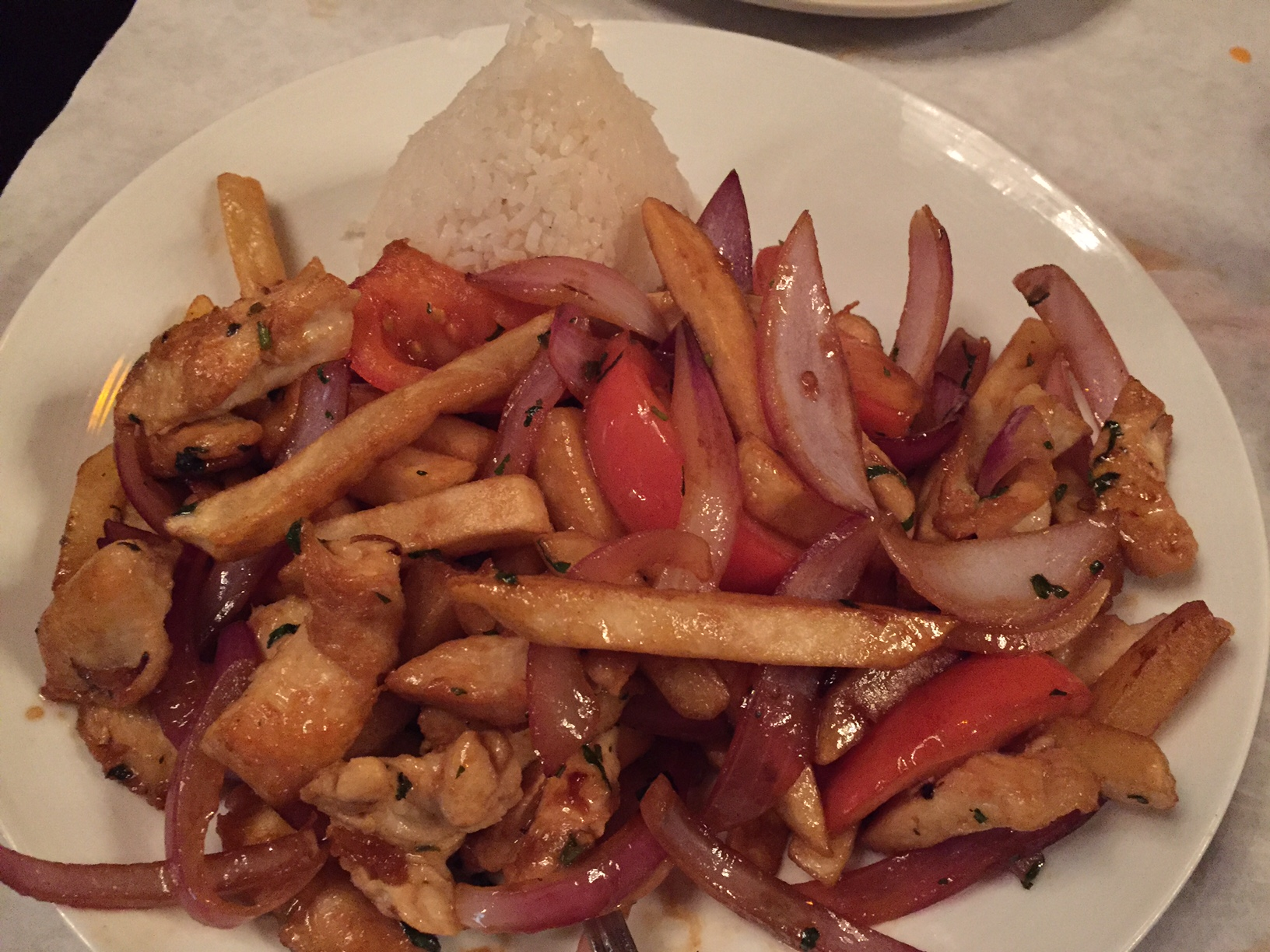 Peruvian Chicken Dish With Fries