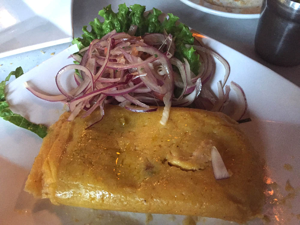 Peruvian Chicken Tamale