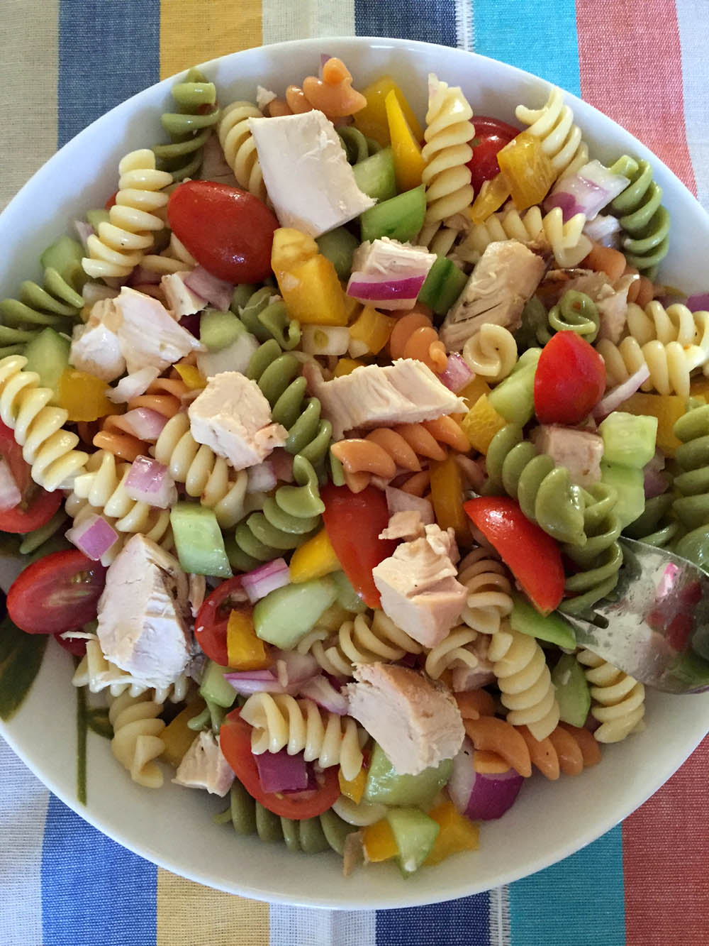 Easy Chicken Pasta Salad Healthy Main Dish Recipe Melanie Cooks