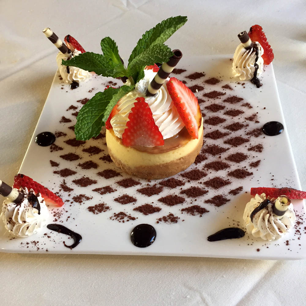 Cheesecake at Deka restaurant Wheeling (Chicago Northwest Suburbs)