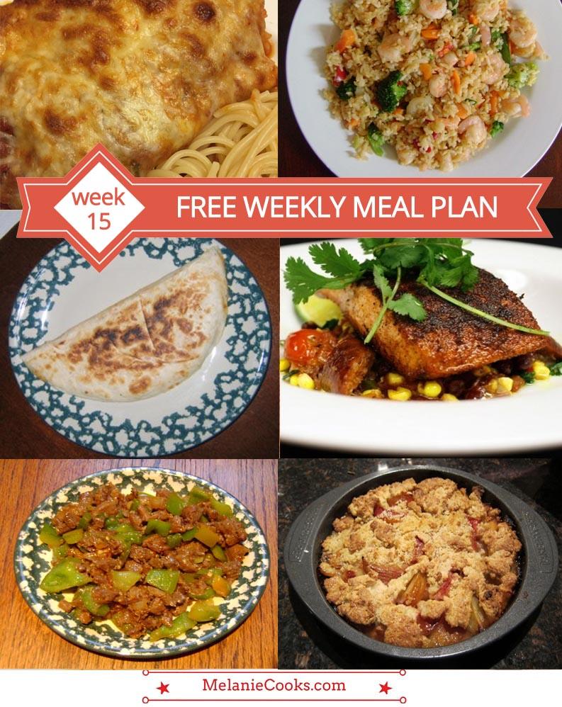 Free Weekly Meal Plan - Menu For Week 15