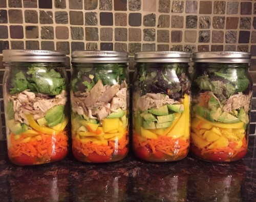 Mason Jar Chicken Mango Salad Recipe