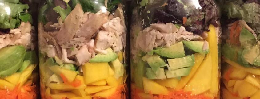 Chicken Mango Salad In A Mason Jar
