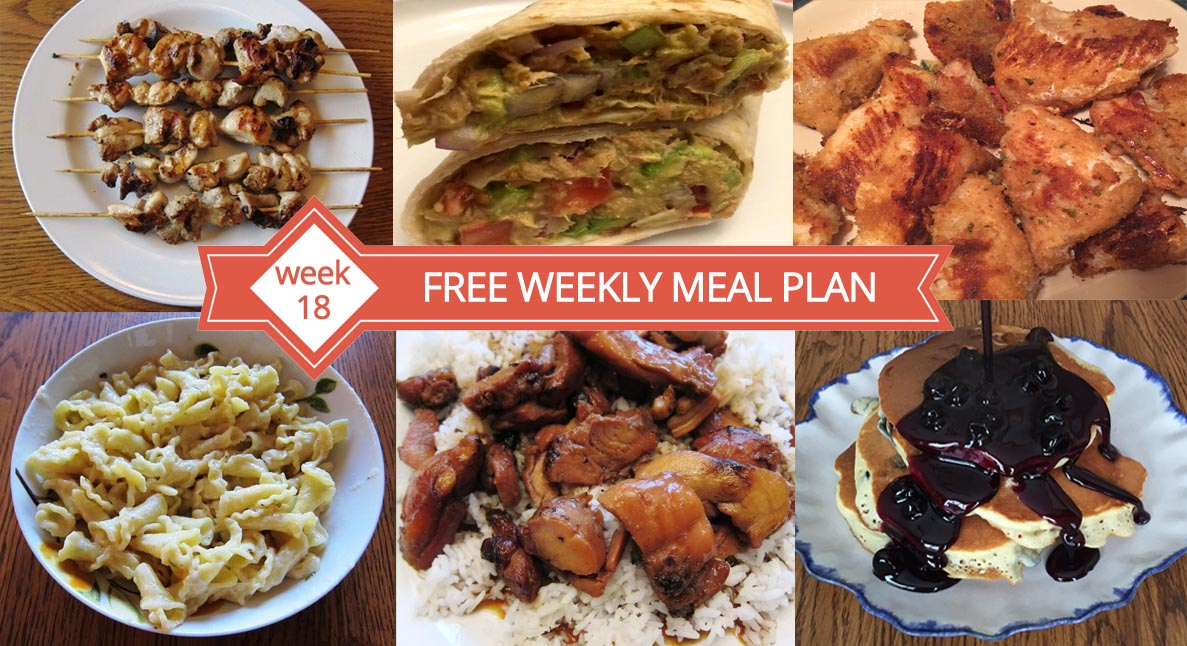 Free weekly meal plan week 18 recipes and dinner ideas melanie cooks forumfinder Choice Image