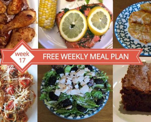 Free Weekly Menu Plan - Week 17 Recipes