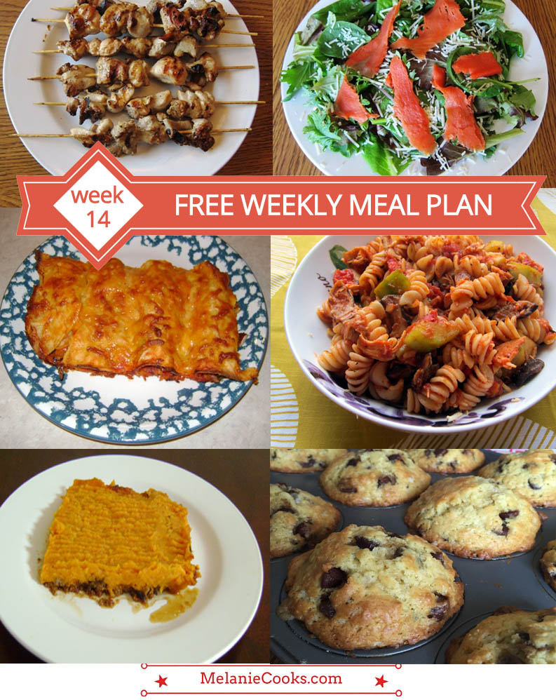 Free Weekly Meal Plan - Week 14