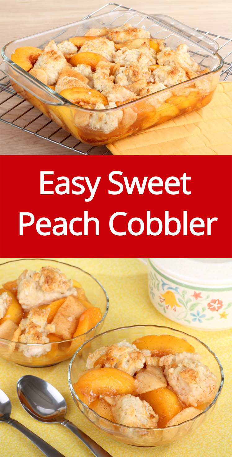 Easy Peach Cobbler Recipe Made With Fresh Sweet Peaches!
