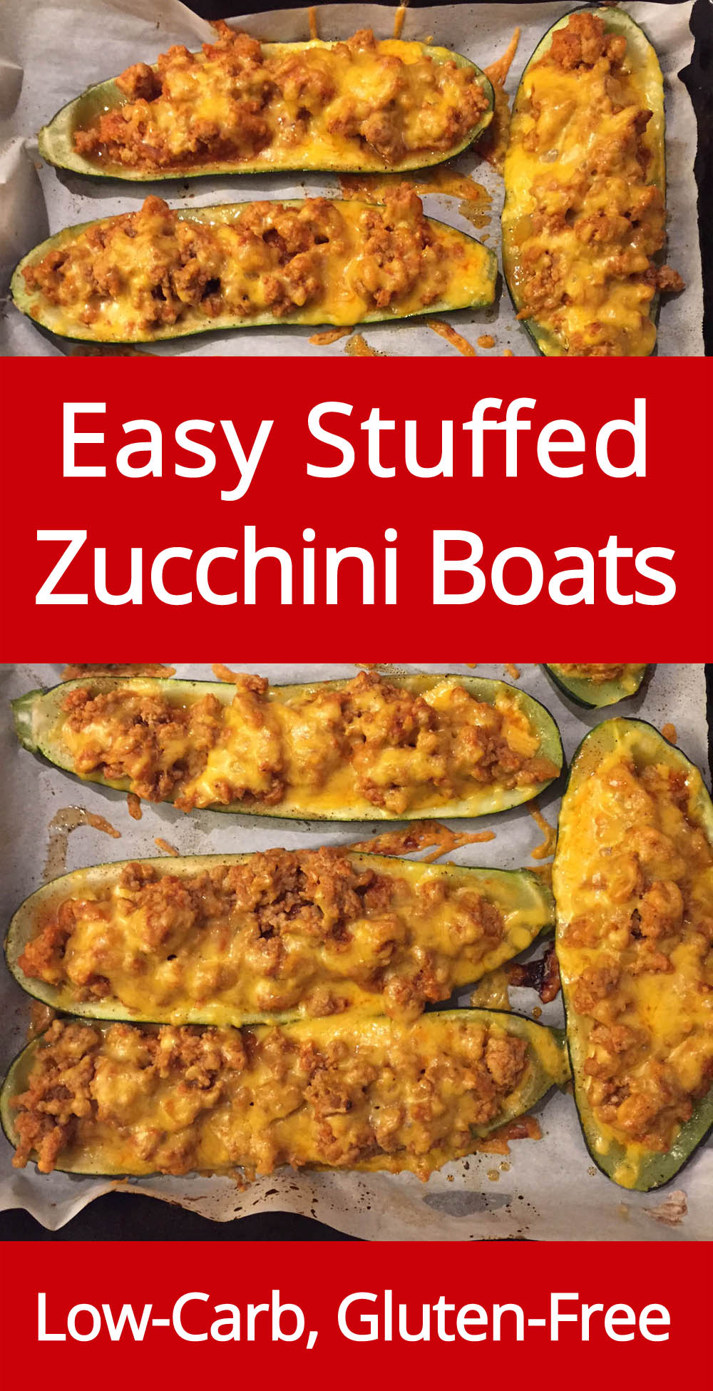 OMG I love these stuffed zucchini boats! So yummy and cheese! Perfect low-carb keto dinner!