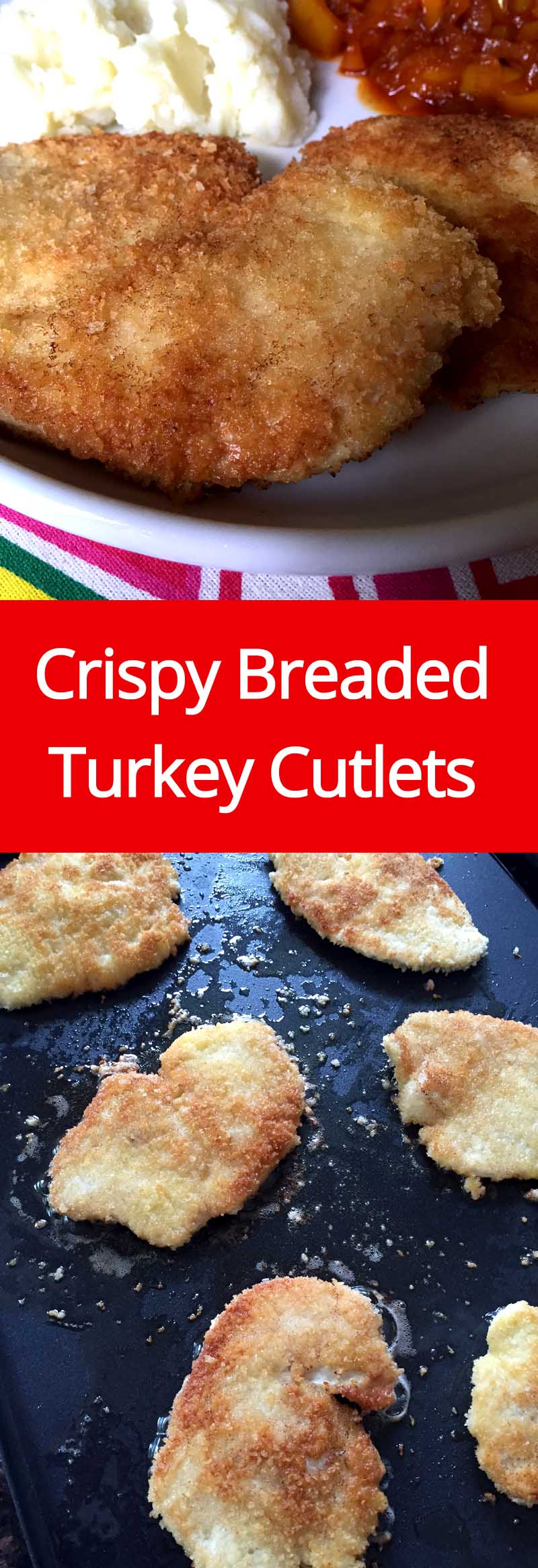 Crispy Panko Breaded Pan-Fried Turkey Cutlets Recipe | MelanieCooks.com