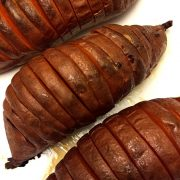 Hasselback (Accordion) Baked Sweet Potatoes (Paleo)