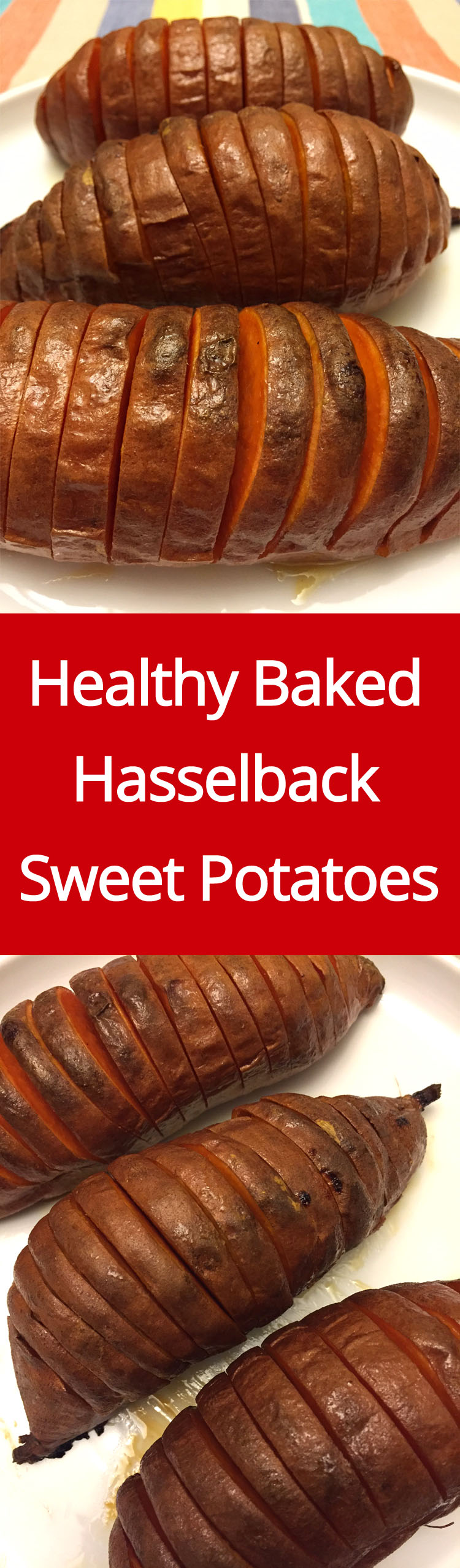These hasselback baked sweet potatoes are amazing! They look so festive, they make a perfect holiday dish! Best of all, they are super healthy! Gluten-free, paleo, they are perfect for any diet!