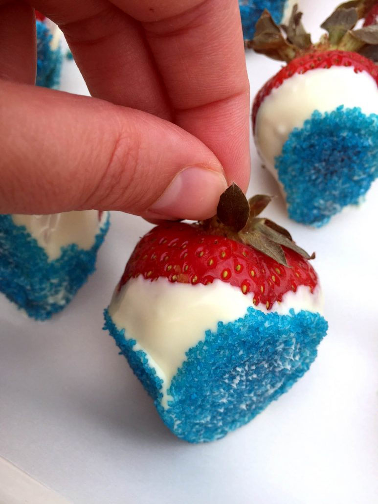 Red White And Blue 4th Of July Strawberries Recipe