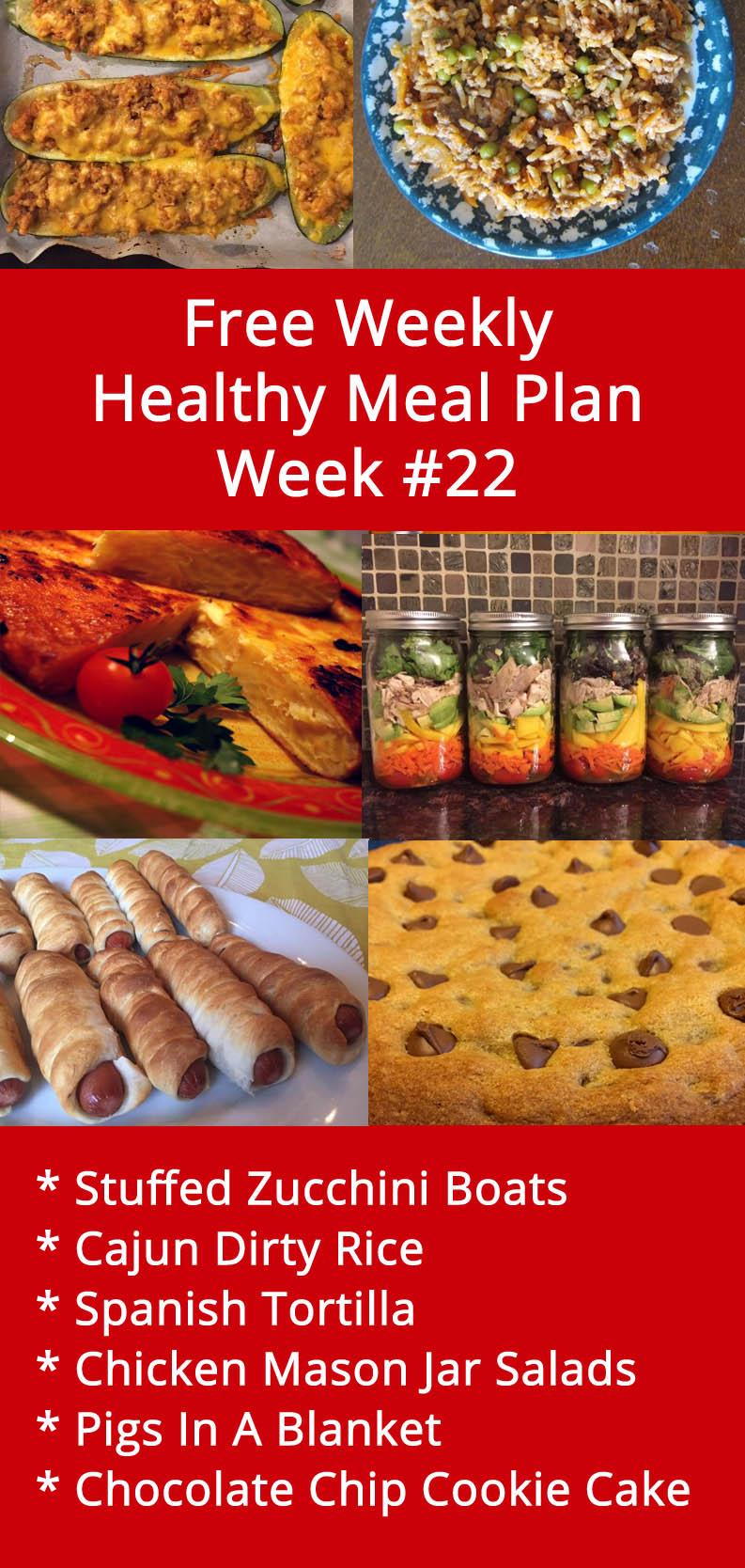 Free Weekly Healthy Family Meal Plan - Week 22 Menu