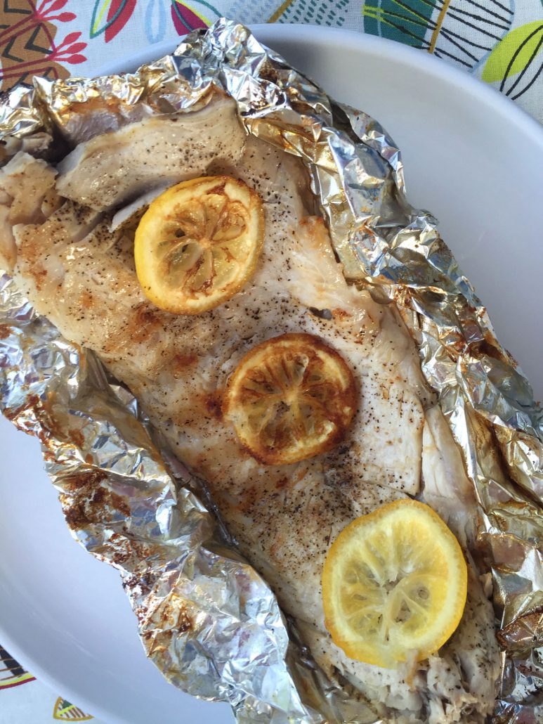 Baked Fish With Lemon In Foil