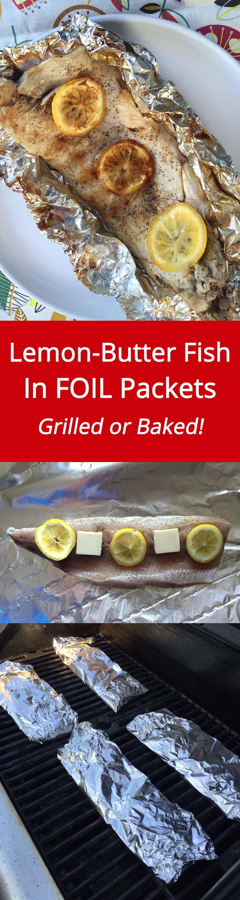 fish in foil packets recipe with lemon butter grilled or