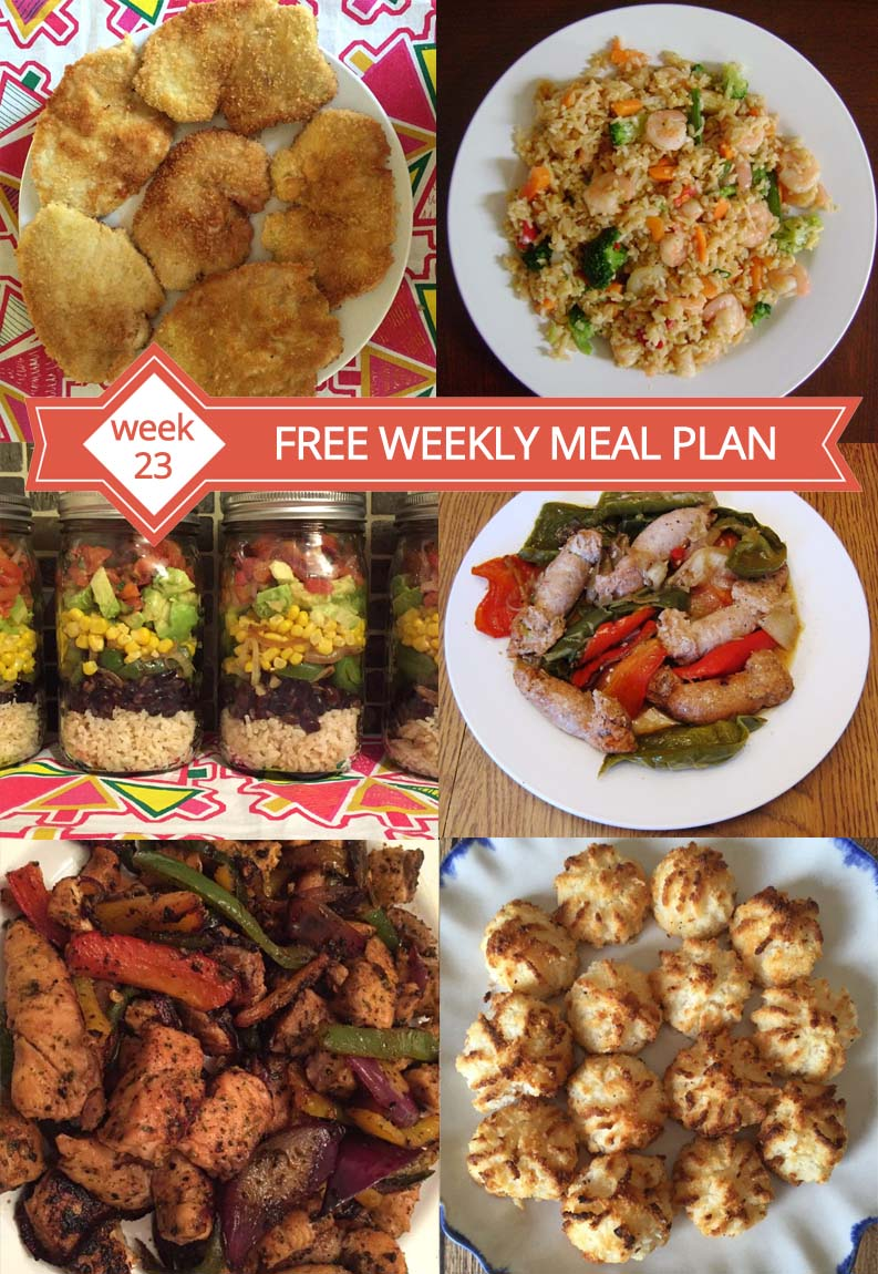 Free Easy Weekly Family Meal Plan Week 23 Recipes And Dinner Ideas Melanie Cooks