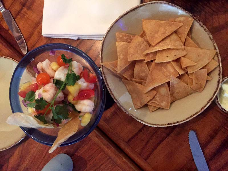 Ceviche and Chips at Oceana Coastal Kitchen restaurant