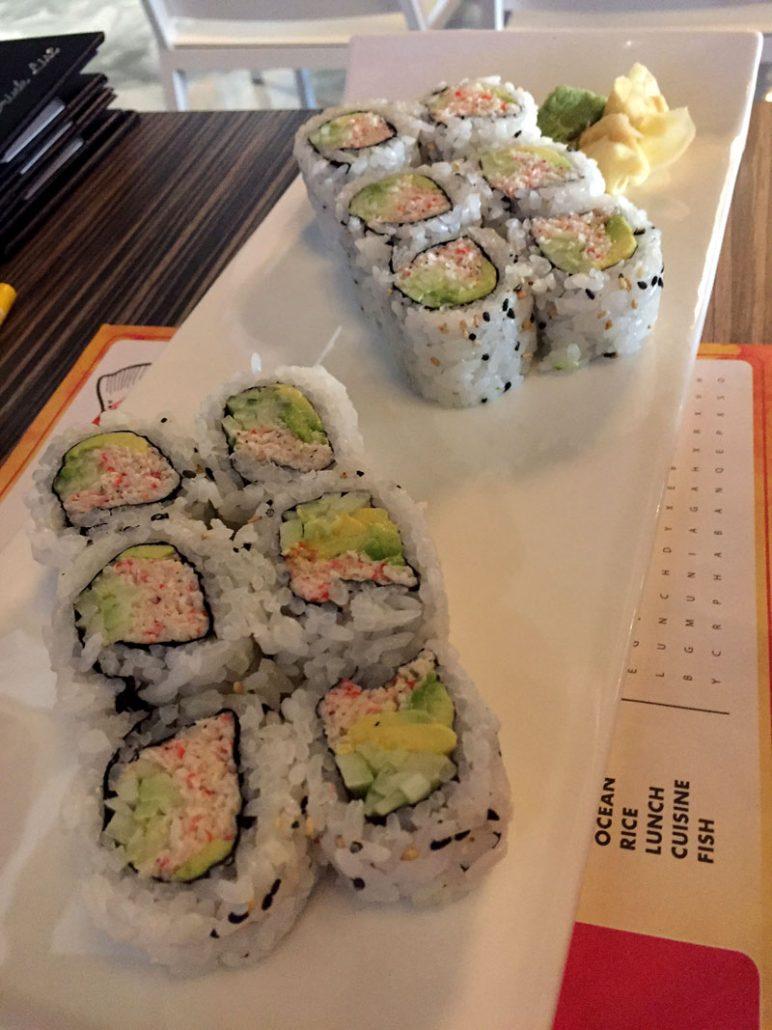 Shakou Sushi California Rolls
