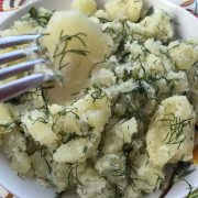 Easy Dilled Herbed Smashed Potatoes Recipe