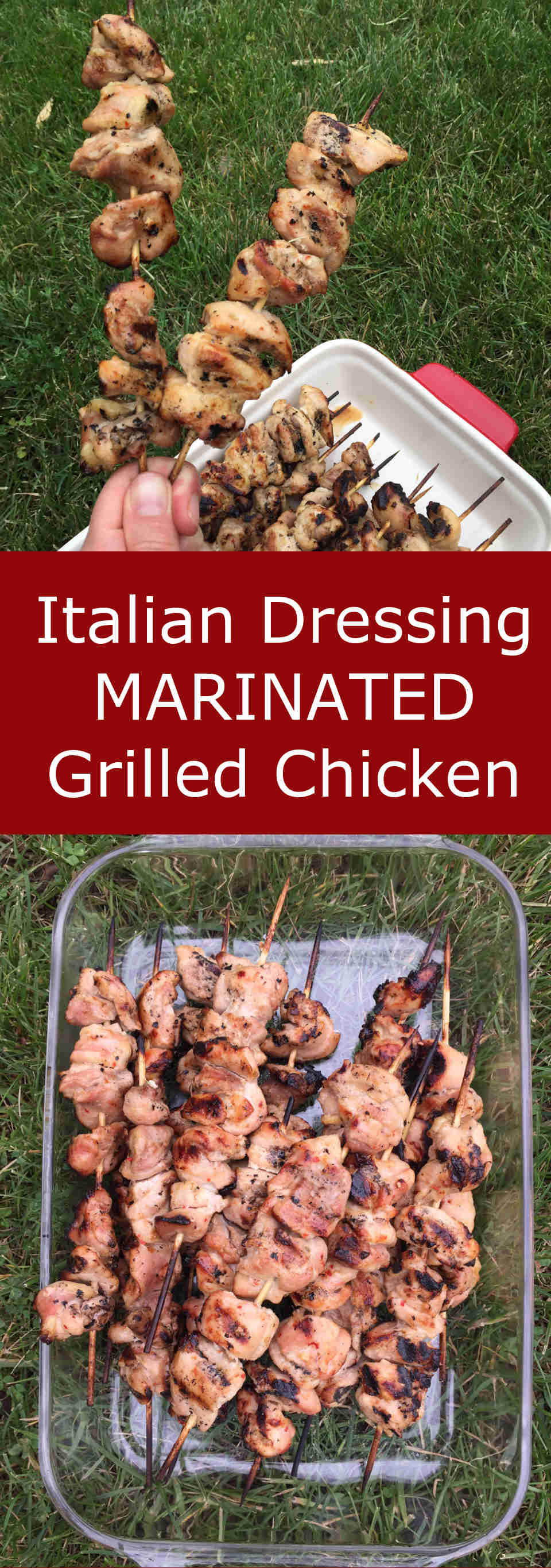 Grilled Chicken Marinated In Italian Dressing - so simple and so delicious! This is so easy, MUST MAKE!| MelanieCooks.com