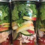 Chicken Apple Mason Jar Salad