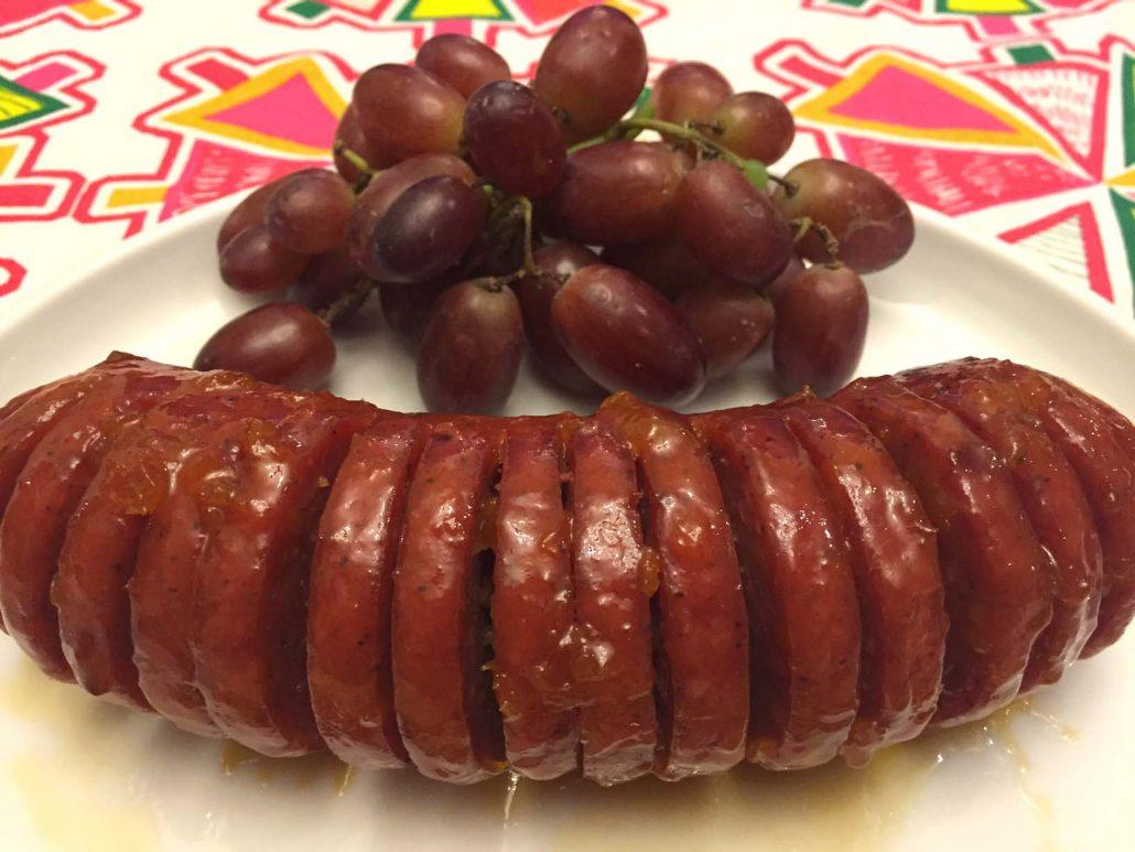 Baked Glazed Summer Sausage