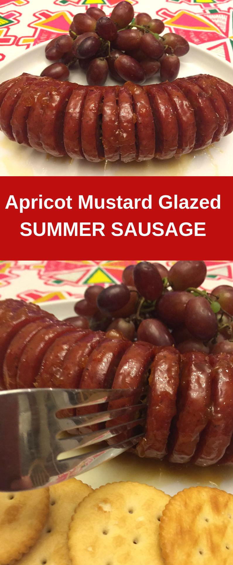 Apricot-Mustard Glazed Summer Sausage - so finger-lickin' good!