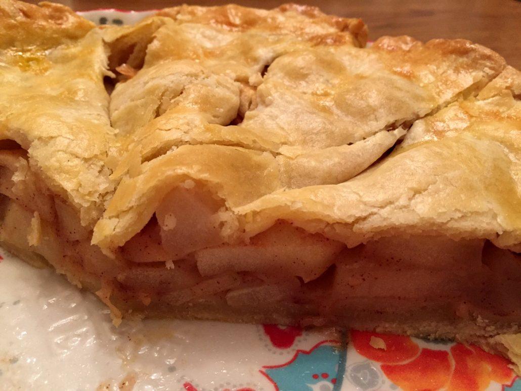 A Slice Of Homemade Freshly Baked Apple Pie