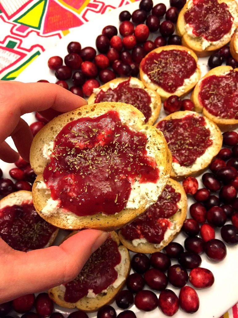 Cranberry Goat Cheese Bruschetta Recipe