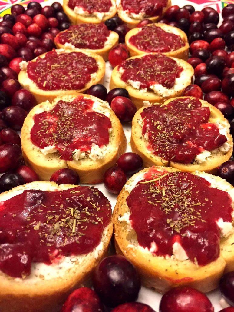 How To Make Cranberry Bruschetta
