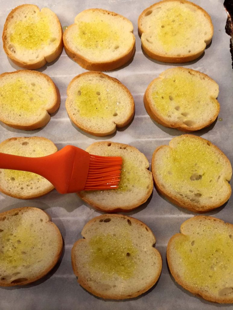 Bread With Olive Oil For Bruschetta