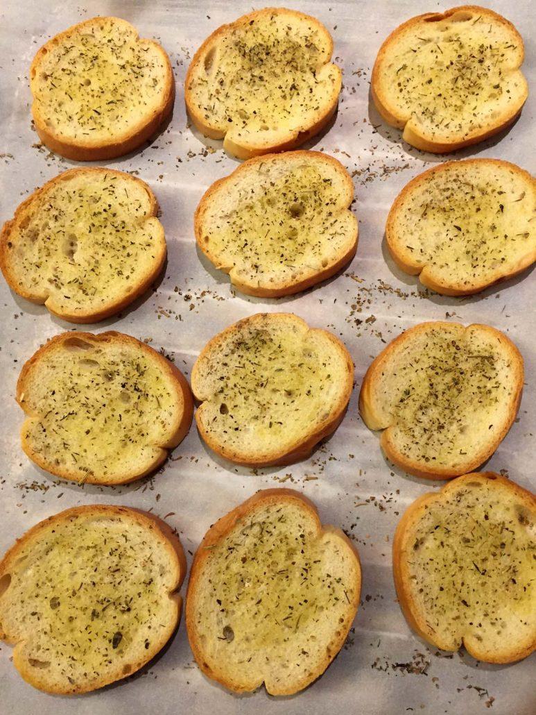 Toasted Bruschetta Bread Slices