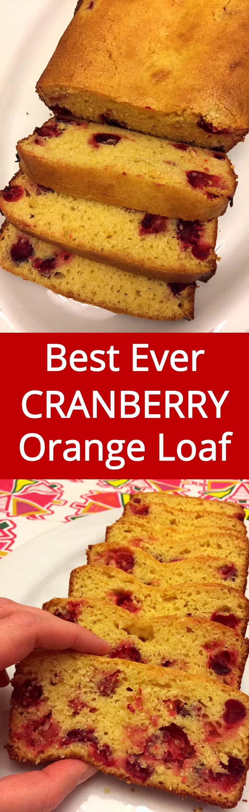 Cranberry Orange Bread - best recipe I ever tried!  Perfect for Christmas and any holiday!  MelanieCooks.com