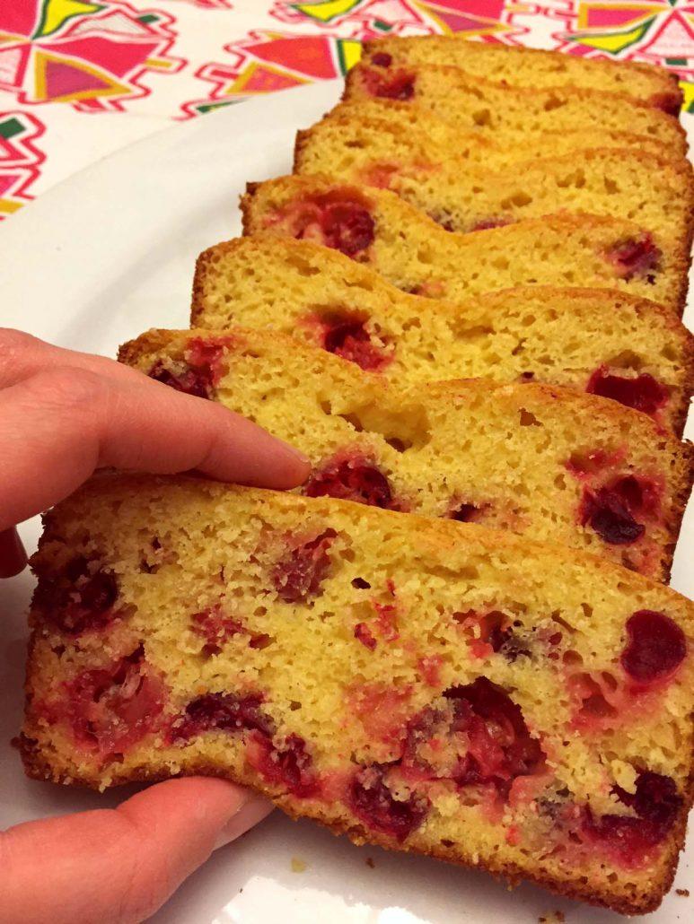 Cranberry Orange Bread - Christmas Loaf Cake