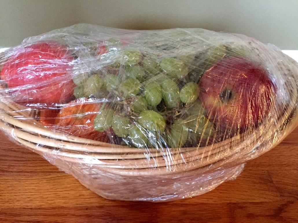 Homemade Fruit Gift Basket