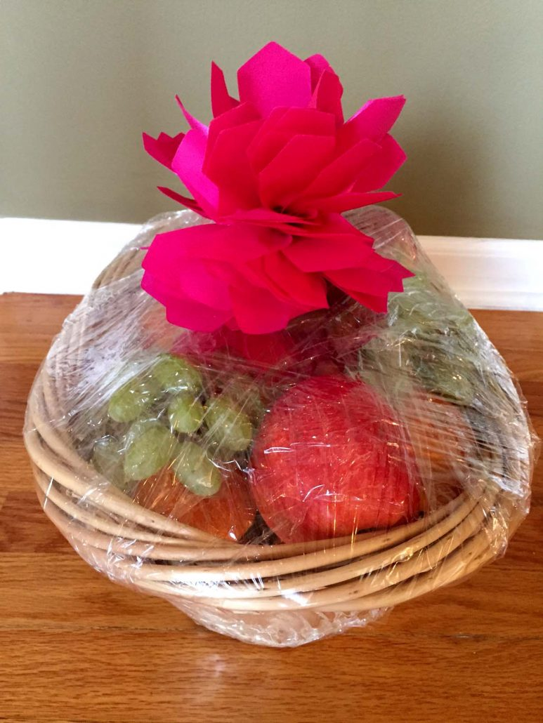 Easy dyi fruit basket homemade gift idea melanie cooks how to make a fruit basket at home negle Images
