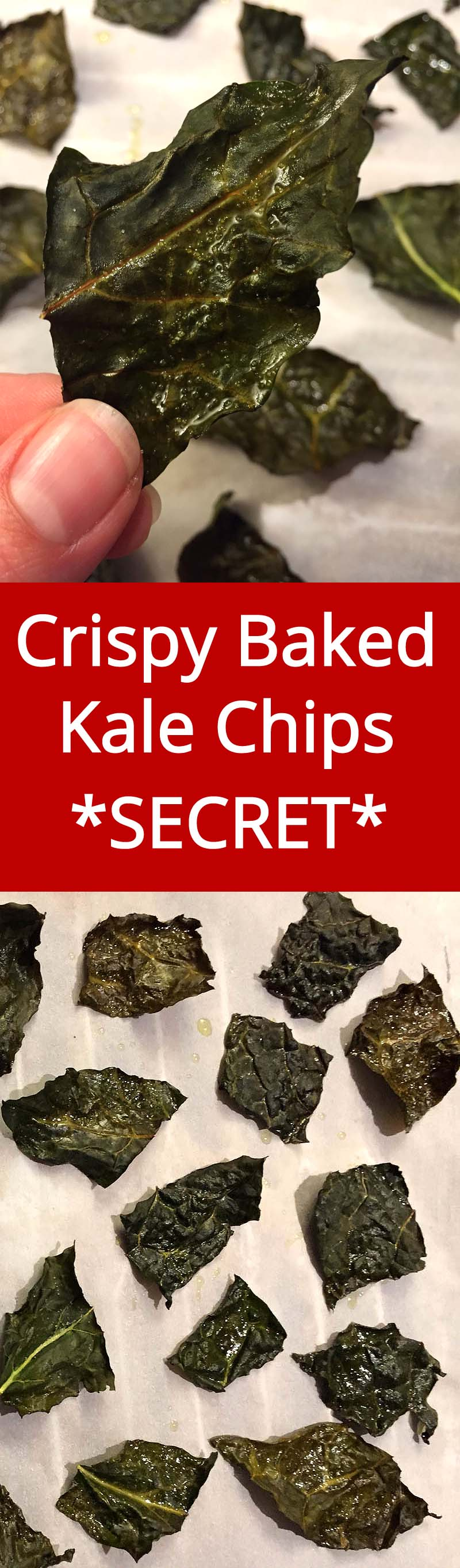 Crispy Baked Kale Chips - Super Crunchy, Yummy and Healthy! | MelanieCooks.com